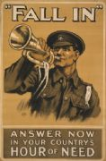 "Vintage Irish WW1 ""Fall In"" Poster"